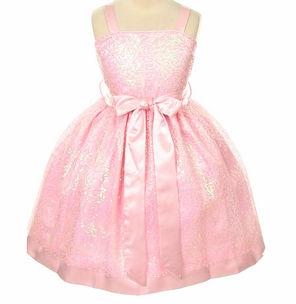 Girls Glitter Charmeuse Sequin Dress - FINAL SALE CLEARANCE