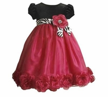 Bonnie Jean Fuchsia and Black Dress  FINAL SALE 4T or 4