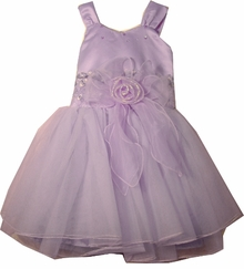 Girls Lavender Tulle Party Dress