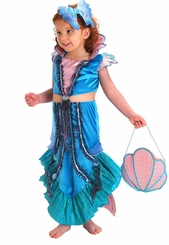 Girls Mermaid Costume - includes Mermaid Headpiece!