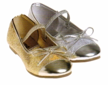 Girls Metallic Dress Shoes - Choose Color