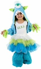 Girls Monster Costume - GRRR ! LG 10-12