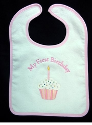Girls My First Birthday Bib - 1st Birthday Party - sold out
