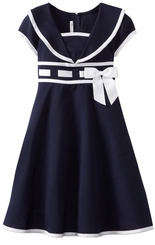 Girls Navy Sailor Dress - Nautical Dress