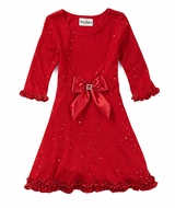 Girls Polka-Dot Sparkle-Knit Party Dress - SOLD OUT