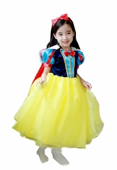 Girls Princess Dress  - Snow White Inspired with Headband