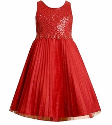 Girls Red Sequin Dress  SOLD OUT