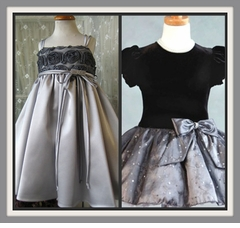 Girls SILVER Dresses - Grey Dress