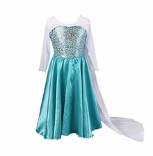 Girls Snow Queen Costume Snow Princess Dress