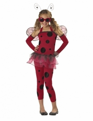 Girls Trendy Halloween Costume - Love Bug Ladybug Costume