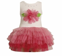 Girls Tutu Dress Newborn to 2T : Pink Flower Tutu  FINAL SALE
