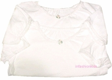 Girls Undershirts ~ Short Sleeved White Cotton -2 Pack - FINAL SALE