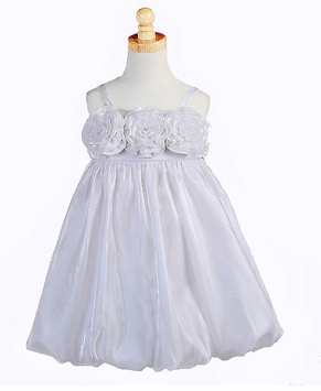 Girls White Bubble Dress   CLEARANCE FINAL SALE