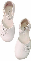 Girls White Leather Shoes - Leather Laura Ashley -  Sale!  GIRLS SIZE