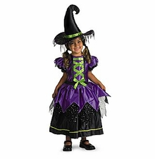 Girls Witch Costume - Magical Witch