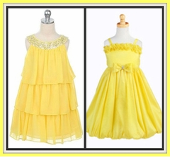Girls YELLOW Dresses