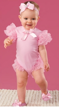 Girly Glamour Pretty in Pink Ruffled Baby Crawler -sold out