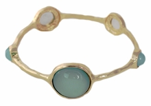 Gold and Blue Circle Station Bangle
