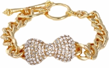 Gold Bow ID Link Bracelet  out of stock