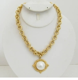 18k Gold - Plated Chain necklace with Pearl  sold out