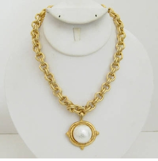 18k Gold - Plated Chain necklace with Pearl Women's Necklace