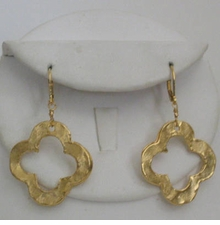 18K Gold-Plated Clover Leaf Earring sold out