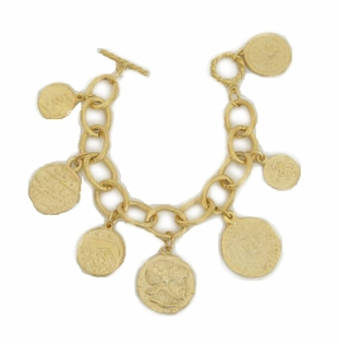 18K Gold Plated Coin Charm bracelet - SOLD OUT