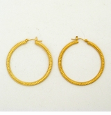 18K Gold Plated Detailed Hoop Earrings - sold out
