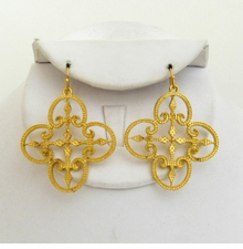 18K Gold Plated Filigree Earrings - sold out