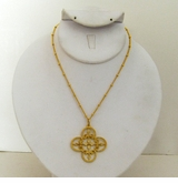 18K Gold Plated Filigree necklace