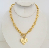 18K Gold Plated Heart Front Toggle necklace SOLD OUT