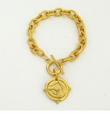 18k Gold- Plated Intaglio Equestrian Toggle bracelet  Sold out
