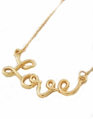 Gold Love Necklace Script