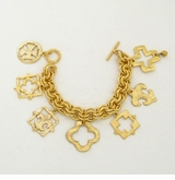 18k Gold- Plated Multi Piece Charm Bracelet