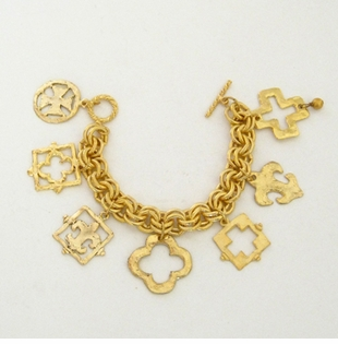 18k Gold- Plated Multi Piece Charm Bracelet - Out of Stock