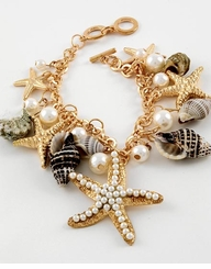 Gold Sea Life Charm Bracelet - sold out