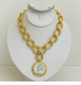18K Gold Plated & Silver English Coin necklace SOLD OUT