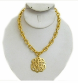 18k Gold- Plated Universal Monogram necklace