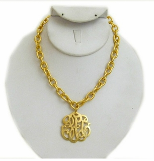 18k Gold- Plated Universal Monogram necklace - sold out