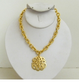 18k Gold- Plated Universal Monogram necklace SOLD OUT