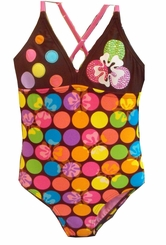 Gossip Girls Swimwear -  Dot Swimsuit - SALE  4 - 16