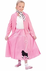 GREASE !  Girls Fifties Costume - Poodle Skirt & Sweater