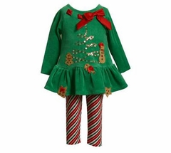 Green Christmas Pant Outfit - 12 month available