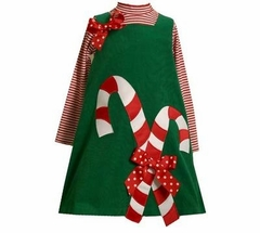Green My Candy Canes Jumper Set