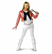 Hannah Montana Costume with Pink Jacket - IN STOCK READY TO SHIP