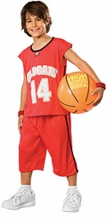 High School Musical Costume - Troy Costume - Deluxe with Basketball