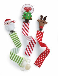 Holiday Baby Pacey Clips: Mud Pie Baby Christmas Pacy Clips - sold out