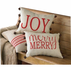 Holiday Burlap Pillows CHOOSE ONE - SOLD OUT