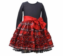 Holiday Dress - Velvet Red Plaid Bonaz Dress