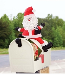 Holiday Home Decor : Santa Mailbox Topper - OUT OF STOCK